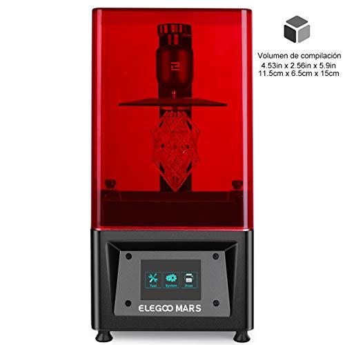 ELEGOO MARS 3D-UV-Härtungsdrucker mit 3,5-Zoll-Smart-Touchscreen-Offline-Druck 115 mm (L) x 65 mm (B) x 150 mm (H) Druckgröße Schwarz