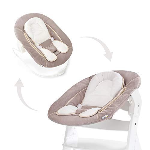 Hauck Neugeborenen Aufsatz / Alpha Bouncer 2in1 / von Geburt an nutzbar / mit sitzeinlage / kompatibel mit Alpha+ und Beta+, Stretch Beige (Beige)