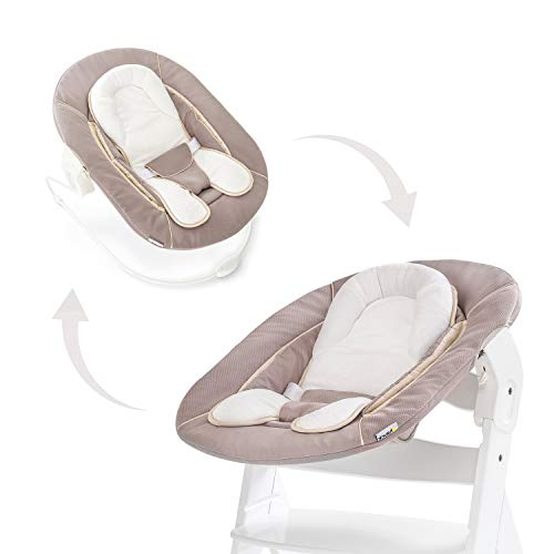 Hauck Alpha Bouncer 2 en 1 pour nouveau-né,hamac en tissu doux, combinable avec une chaise en bois évolutive, Alpha+ et Beta+y compris le...