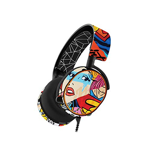 MightySkins Skin Compatible with SteelSeries Arctis 5 Gaming Headset - Cartoon Mania | Protective, Durable, and Unique Vinyl wrap Cover | Easy to Apply, Remove, and Change Styles | Made in The USA