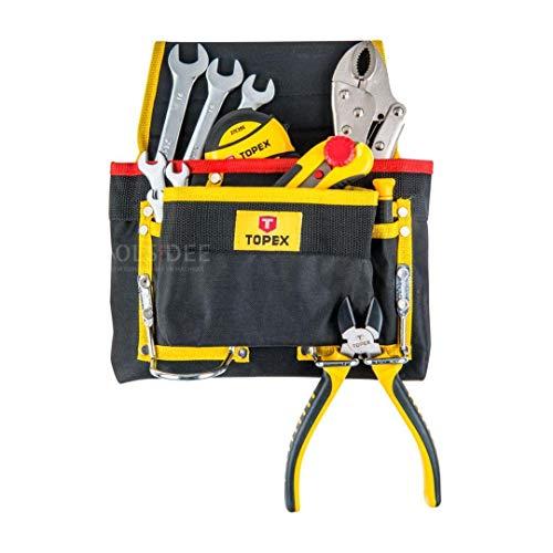 Werkzeugtasche mit Haken aus Metall. Lieferung ohne Werkzeug. Aus Nylon.