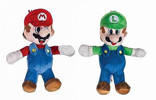 Play by Play Super Mario Bros - Pack 2 Peluches Mario Bros y Luigi 20 cm de Super Mario