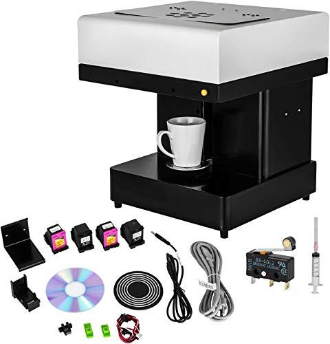 GJZhuan Impresora De Café Inteligente, Diseño De Arte DIY, Impresora De Alimentos, Café con Leche, Impresora De Arte, Cafetera, Selfie, Impresora De Té con Leche(Size:220V)