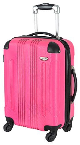 Koffer L Pink 65x44x25 cm Hartschale Reisegepäck Reise Trolley Bowatex