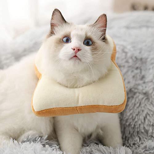 SALUTUYA PP Baumwollmaterial, Pet Anti Bite Scratching Collar, auch als Kissen, Pet Recovery Zubehör(L, Bread)