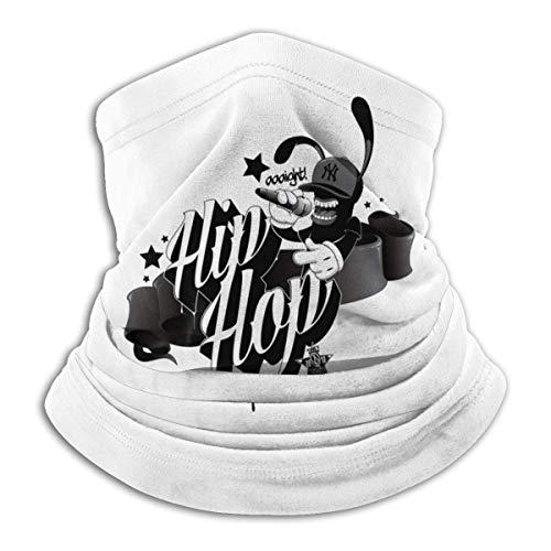 Tour de Cou Cagoule Microfibre Chapeaux Tube Masque Visage, Hip Hop Fashion Rap Balaclava Bandanas Boys and Girls Free UV Graphics Neck Gaiter Warmer Thermal Printed Cold Weather Balaclava Ski Tube Sc
