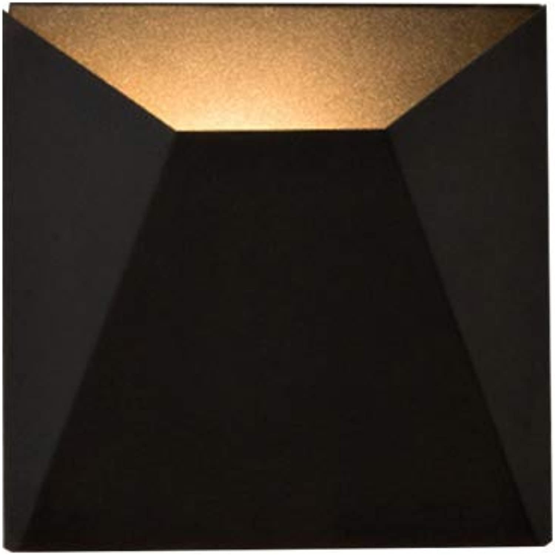SUNTRE HWSUS Wandleuchte Schwarz Einfache Moderne Kreative Warmes Licht Eisen Anti-Korrosion Durable Home Decoration Geeignet Für Jede Szene Gre 20  20 cm