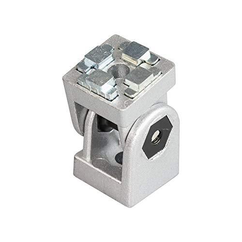 Einstellbarer Winkelverbinder Winkel Gelenk 4040 40x40 Mit Zubehör für 40 mm Aluminium Konstruktionsprofile Systemprofile