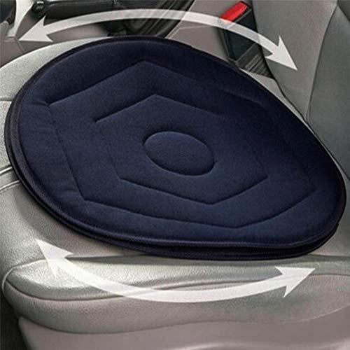 Auto Kissen Sitzkissen Drehkissen Autositz Für Outdoor Schmerz Foam Eimer Non-slip Seat Cushion In Chair Tie On Pad Dark Blue Car Seat Revolving Rotating Cushion Memory Swivel Foam Mobility Aid