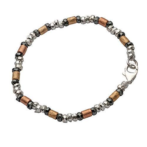 Mixed Metal Bracelet Handcrafted half With Recommended 14 And Sterling 925 Silver
