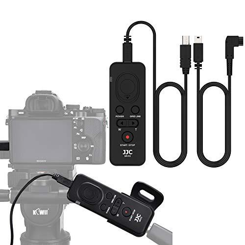 JJC 8-in-1 Video Fernauslöser Multi-Terminal Kabel-Fernbedienung für Sony FDR- AX33 AX53 PJ410 CX405 CX900 Camcorder a6600 a6100 a6500 A9 II A99 RX100 VII a7R IV A7 Kamera -Ersetzen Sony RM-VPR1