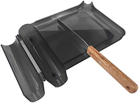 Right Hand Pill Counting Tray with Spatula Black Wood Handle product image