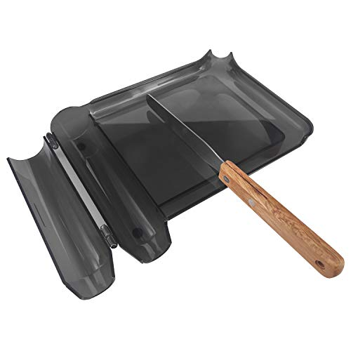 Right Hand Pill Counting Tray with Spatula (Black - Wood Handle)