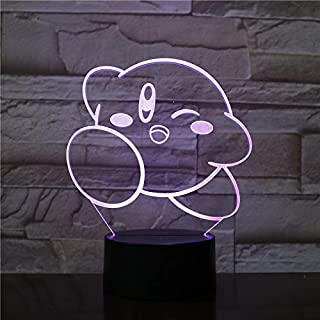 Lampara LED Kirby Cambia Color USB Luz Nocturna