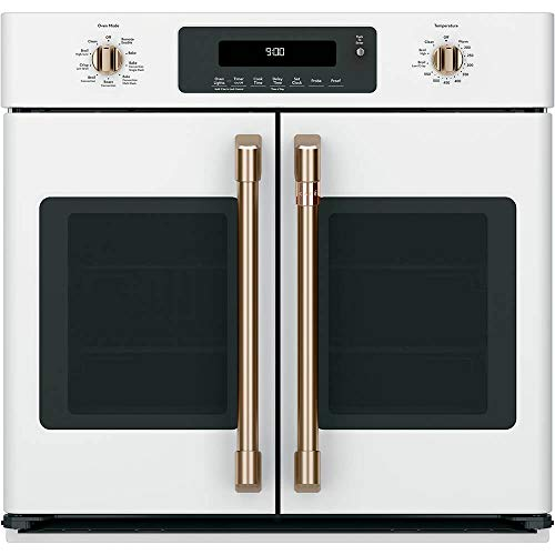Great Features Of Cafe 30 Matte White Built-In French-Door Single Convection Wall Oven