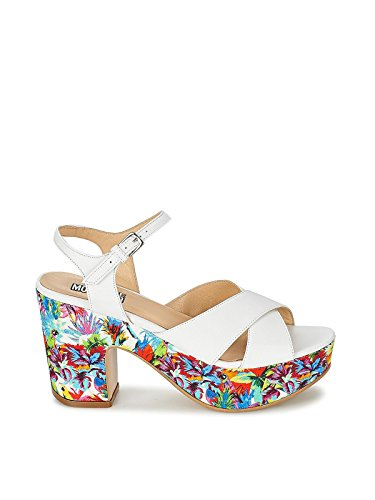 MOSCHINO Scarpe Donna Zeppa Love Canvas E Pelle Multic. Flor. E Bianco DS15MO09