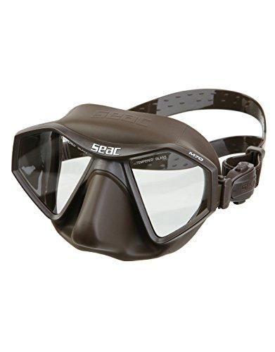 SEAC M70, Maschera da Freediving e Pesca in Apnea a Volume Ridotto Unisex Adulto, Marrone, Standard
