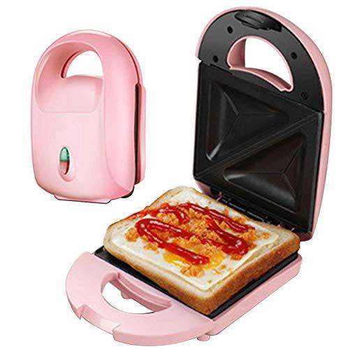 Gofrera Mini Sandwichera Waffle Maker Rosquillas Grill Plancha Desmontable Recubrimiento Antiadherente 650w Para Hogar Cocina Ninos Partido Familia Cocina,Rosado