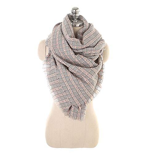 #N/V Bufanda de invierno de moda para mujer, cálida y suave, para regalos exquisitos, color rosa, 190 x 68 cm