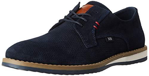 XTI 49604, Zapatos de Cordones Oxford para Hombre, Azul (Navy Navy), 45 EU