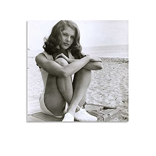 MATONG Lois Chiles Retro-Poster, dekoratives Gemälde, Leinwand, Wandkunst, Wohnzimmer, Poster, Schlafzimmer, Malerei, 30 x 30 cm