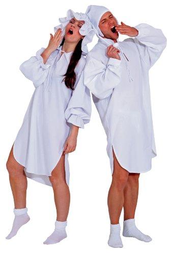 Nachthemd Damen Schlafwandlerin Gr. 38/40 mit Mütze Karneval Pyjama