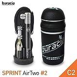 buracia - Kit antiforatura - Riparazioni Biciclette - Serie Sprint AirTwo Modello #2, Colore C2 – Bici da Corsa. Made in Italy.