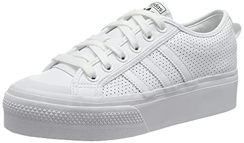 adidas Nizza Platform W, Zapatillas Deportivas Mujer, FTWR White FTWR White Core Black, 40 EU