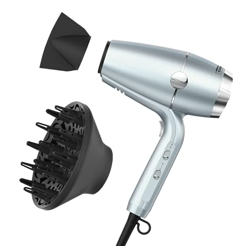 INFINITIPRO BY CONAIR SmoothWrap Hair Dryer for Less Frizz, More Volume and Body, with Dual Ion Therapy and Ceramic Technology