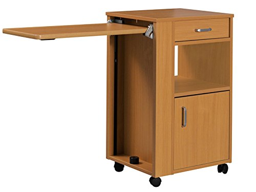 GiMa 27677Nachttisch aus Holz mit abnehmbarem Tablett