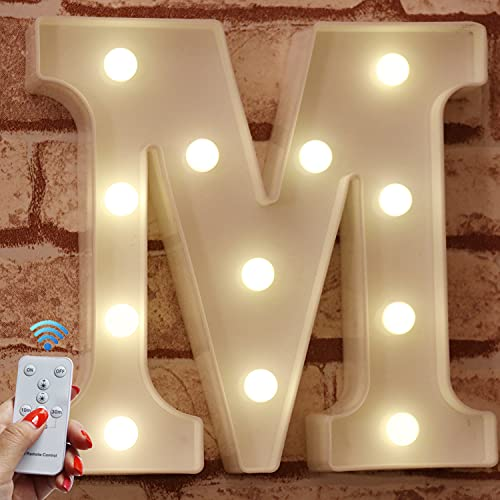 Light Up Letters with Remote LED