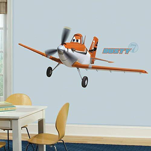RoomMates 22890 - Disney Planes Dusty Riesen-Wandtattoo/Sticker, geblistert, 174 x 63 cm