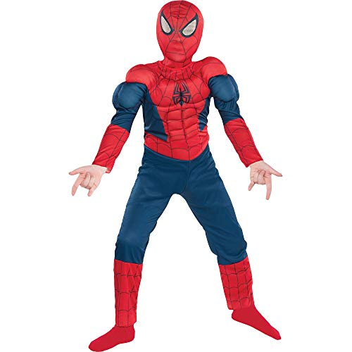 Suit Yourself Classic Spider-Man Muscle Halloween Costume for Boys, Marvel Comics, Small (Size 4-6),...
