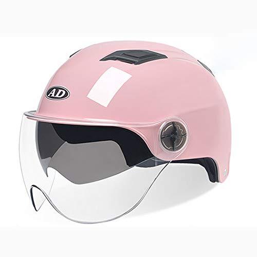 PLID Klapphelm Integralhelm,Motorrad Helm,Motorradhelm Motorrad Roller Offenes Jet Helm,Rollerhelm Jethelm Fashionhelm,Roller Jet Helm mit Streifen,Motorradhelm mit Visier,Antifogging,Sicherheit,