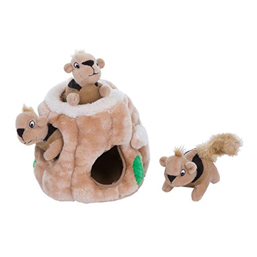 Outward Hound Hide A Squirrel Plush Dog Toy Puzzle, Small
