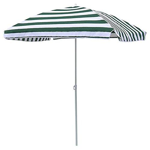 FineHome Sonnenschirm Strandschirm Strand Sonnenschutz mit Tasche knickbar rechteckig Grün-Weiß gestreift 120x180cm