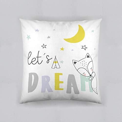 COOL KIDS Funda de cojín Reversible Lets Dream 50x50 cm