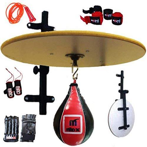 MADX - Plataforma plegable para sparring de boxeo, entrenamiento, bola color rojo, de...