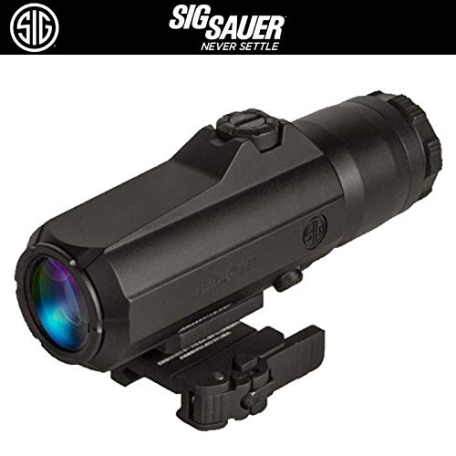 Sig Sauer SOJ61001 Juliet6 Red Dot Magnifier, 6X42MM, Powercam Qr