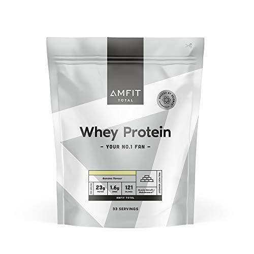 Marchio Amazon - Amfit Nutrition Proteine del Siero di Latte in Polvere 1kg - Banana (precedentemente marchio PBN)