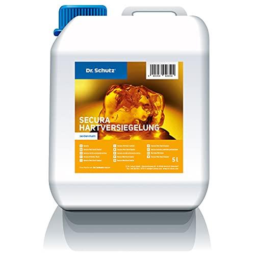 Dr. Schutz Secura Hartbeschichtung seidenmatt 5 L für elastische Bodenbeläge | Versiegelung für PVC, CV, Linoleum Böden | Bodenversiegelung, Schutzversiegelung | Made in Germany