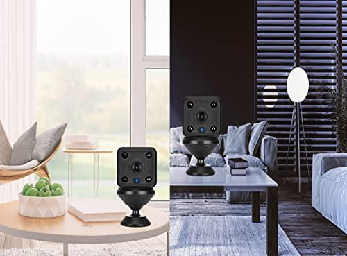 Mini-Überwachungskamera 1080P HD-Kamera, Infrarot Super Nachtsicht Wireless WiFi Magnetische kleine Nanny Cam mit Bewegungserkennung, Hause und im Büro. (schwarz)