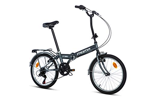 Moma bikes, Pieghevole STREET Unisex adulto, Grigio, Unic Size