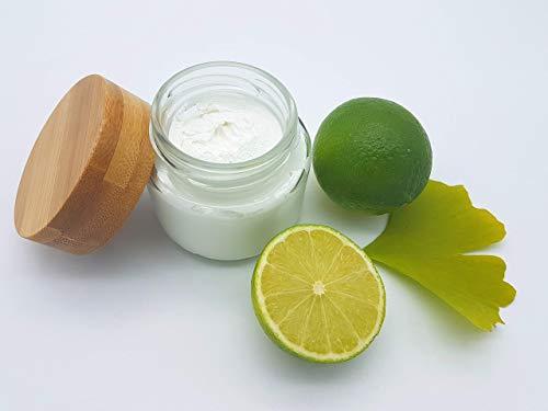 Deocreme Ginkgo Limette, ohne Aluminium und Konservierungsstoffe, plastikfrei, vegan, ohne Palmöl, wirksames Deo von kleine Auszeit Manufaktur