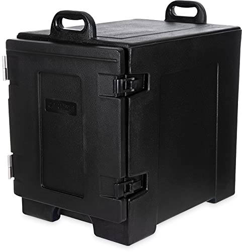 """Carlisle PC300N03 Cateraide Polyethylene Nylex Insulated End Loader Food Pan Carrier, 24"""" Exterior Length x 16-3/4"""" Exterior Width x 25"""" Height x 17"""" Depth, Black"""