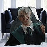 AFOK Ultra Soft Flannel Fleece Blanket Draco-Malfoy Stylish Bedroom Living Room Sofa Warm Blanket 50x40in