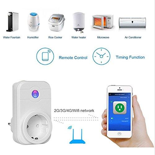 First Connect stopcontact, netwerk, wifi, smart socket, maakt de bediening en programmering van je stopcontacten, werkt via WLAN en gegevensverbinding, gratis app compatibel met iOS en Android.