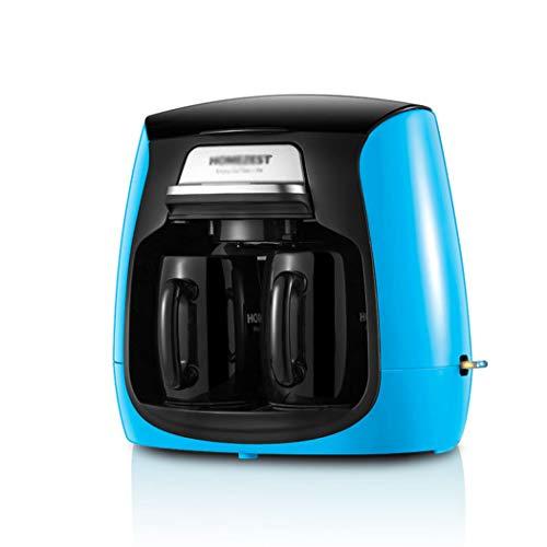 QHYY Machine à café entièrement Automatique Type Goutte à Goutte Double Tasse Cafetière Mini théière Machine à café