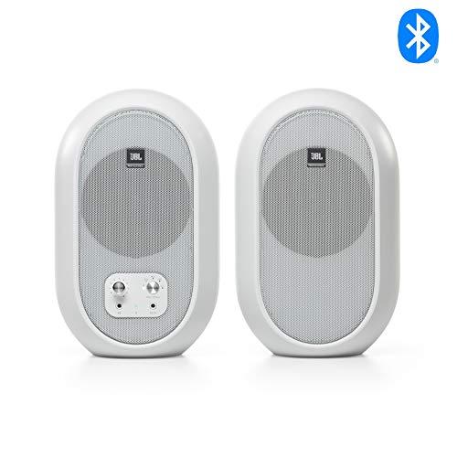 JBL Professional 1 Series 104-BT Kompakte Desktop-Referenzmonitore mit Bluetooth, weiß, paarweise erhältlich (JBL104-BT-WH)