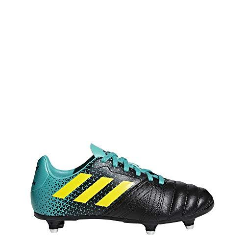 adidas All Blacks (SG), Scarpe da Rugby Unisex-Bambini, Blu Hiraqu/Shoyel/Cblack, 28 EU